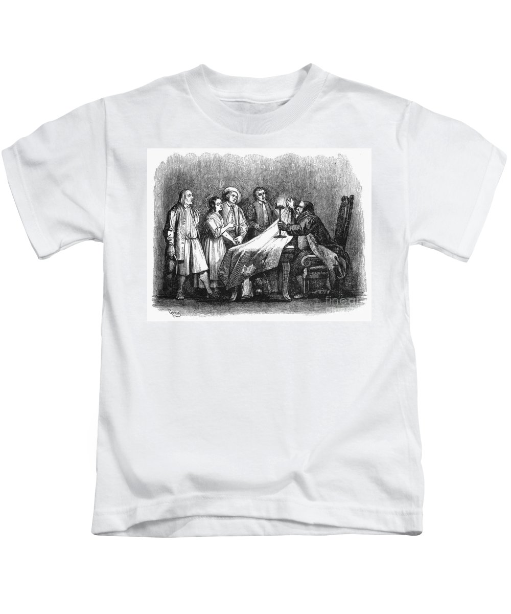 1840 Kids T-Shirt featuring the photograph Manzoni: I Promessi Sposi by Granger