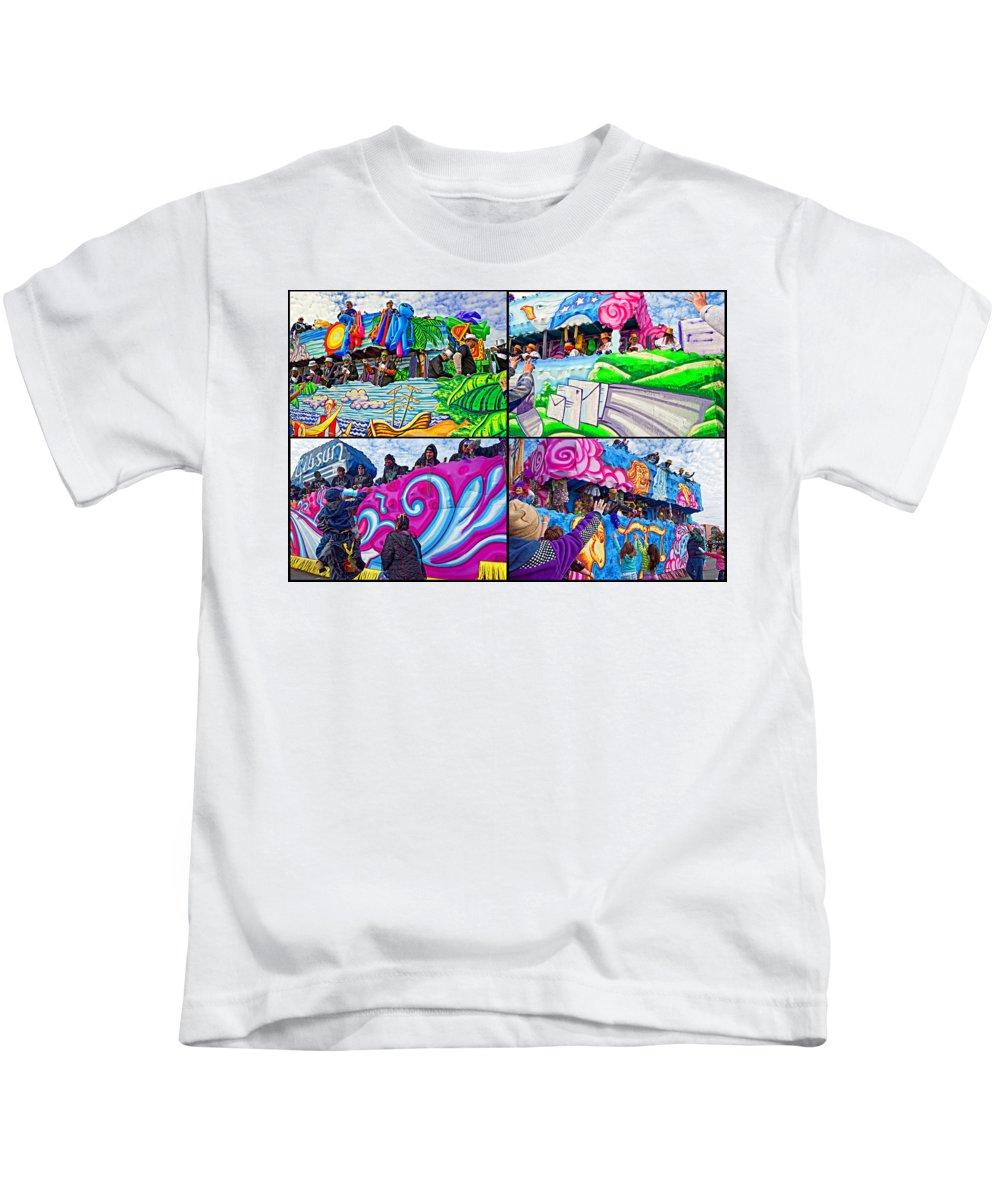 New Orleans Kids T-Shirt featuring the photograph Mardi Gras Fun by Steve Harrington