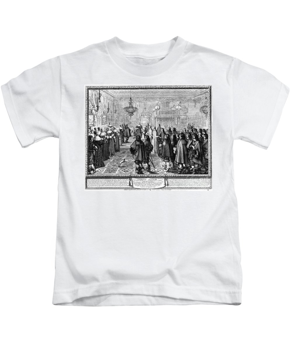 1645 Kids T-Shirt featuring the photograph Marriage Contract, 1645 by Granger