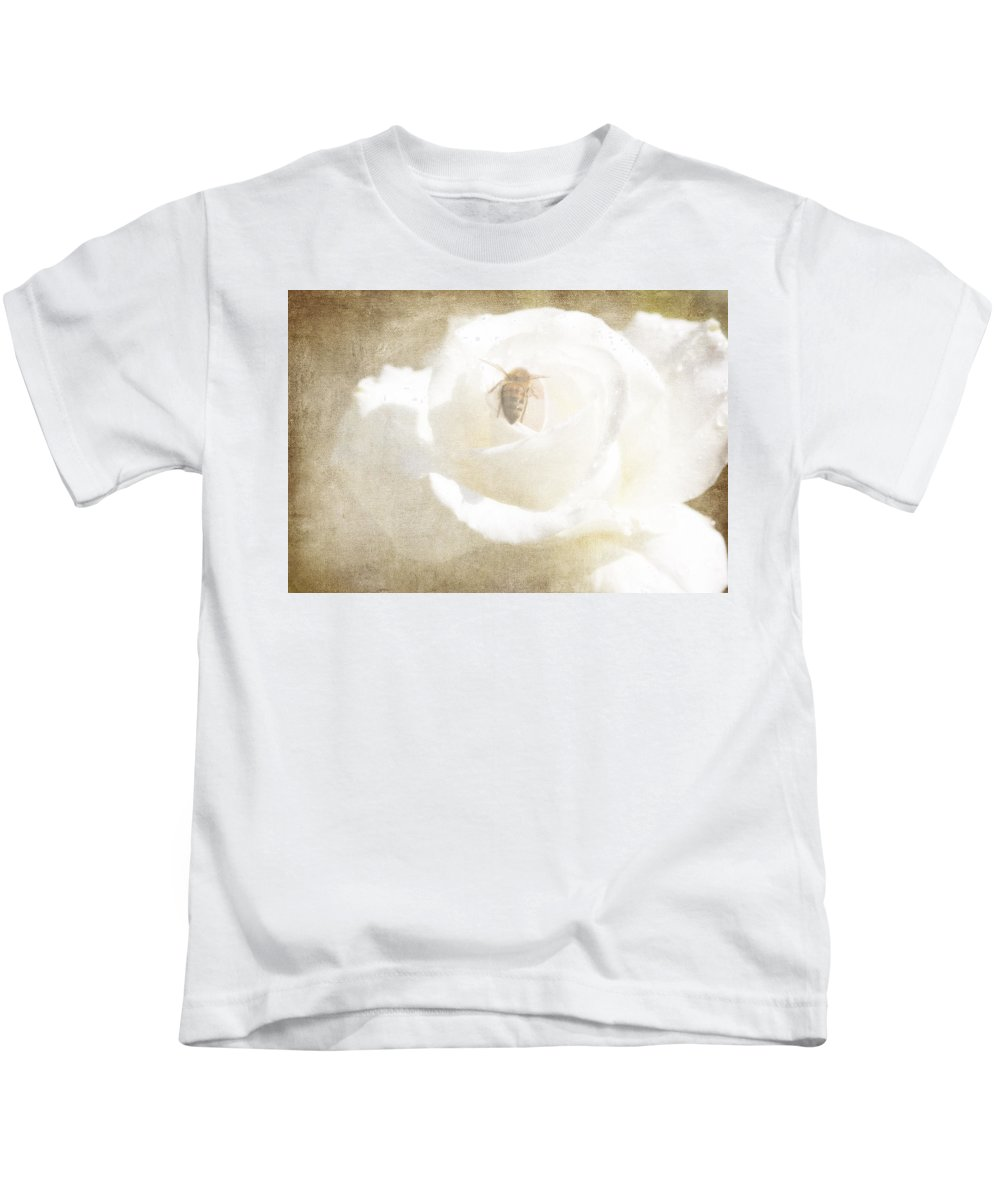 Bee Kids T-Shirt featuring the photograph Miss Bee Haven II by Linda Dunn
