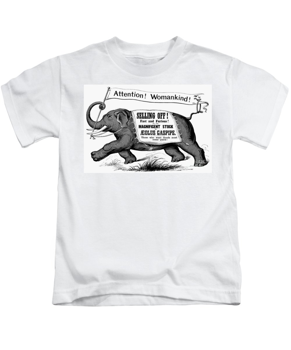 19th Century Kids T-Shirt featuring the photograph Mortised Cut, 19th Century by Granger