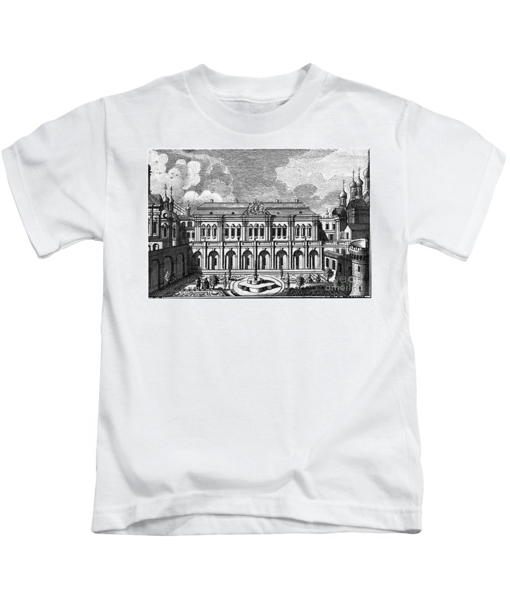 18th Century Kids T-Shirt featuring the photograph Moscow: Kremlin Palace by Granger