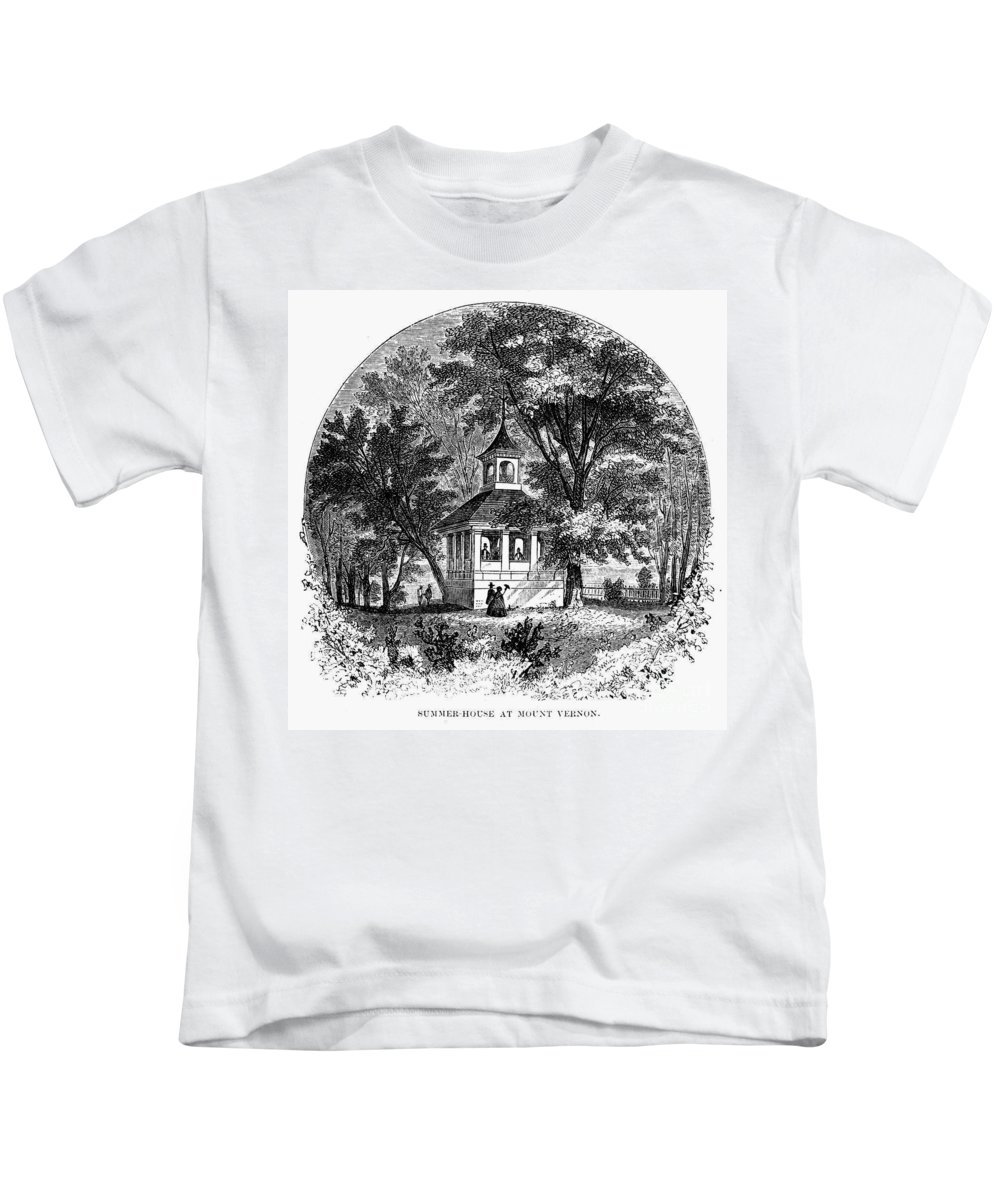 1883 Kids T-Shirt featuring the photograph Mount Vernon, 1883 by Granger