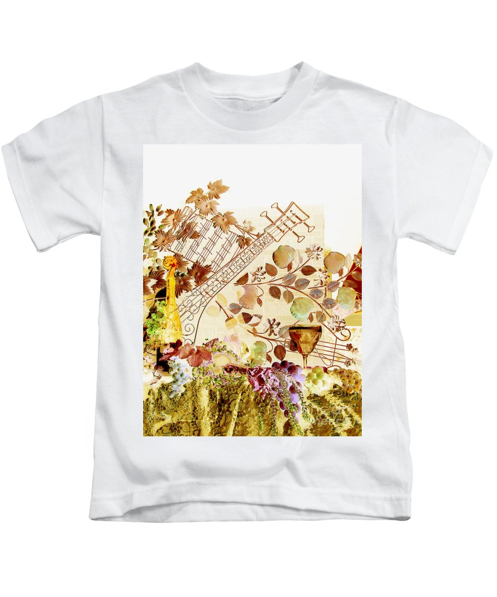 Music Kids T-Shirt featuring the photograph Music With Wine 2 by Anthony Wilkening