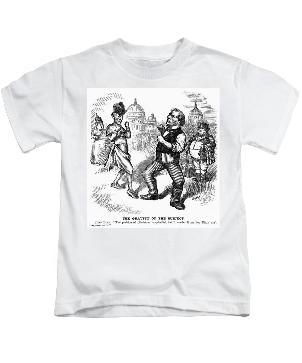 1874 Kids T-Shirt featuring the photograph Nast: Papal Infallibility by Granger
