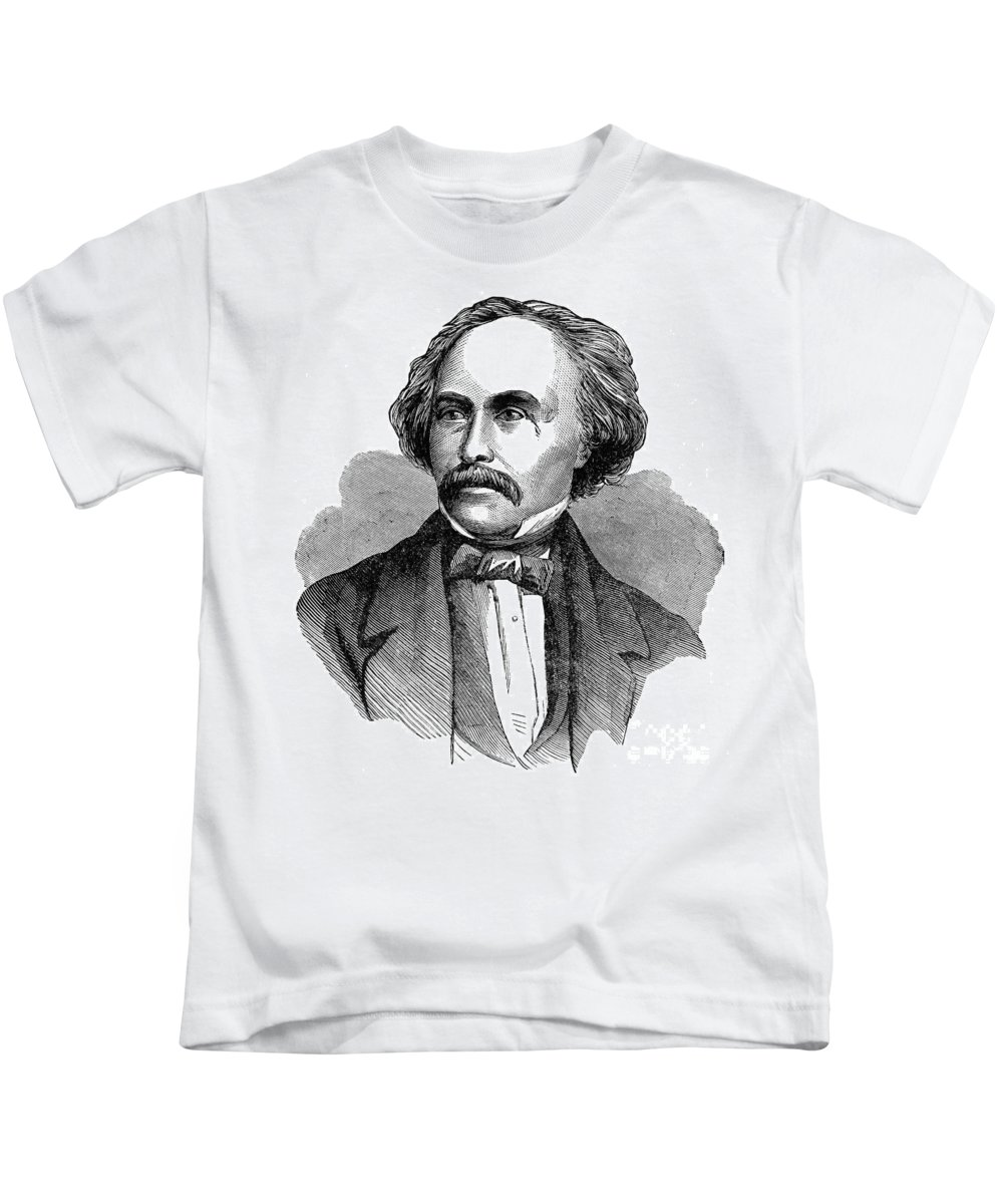 19th Century Kids T-Shirt featuring the photograph Nathaniel Hawhtorne by Granger