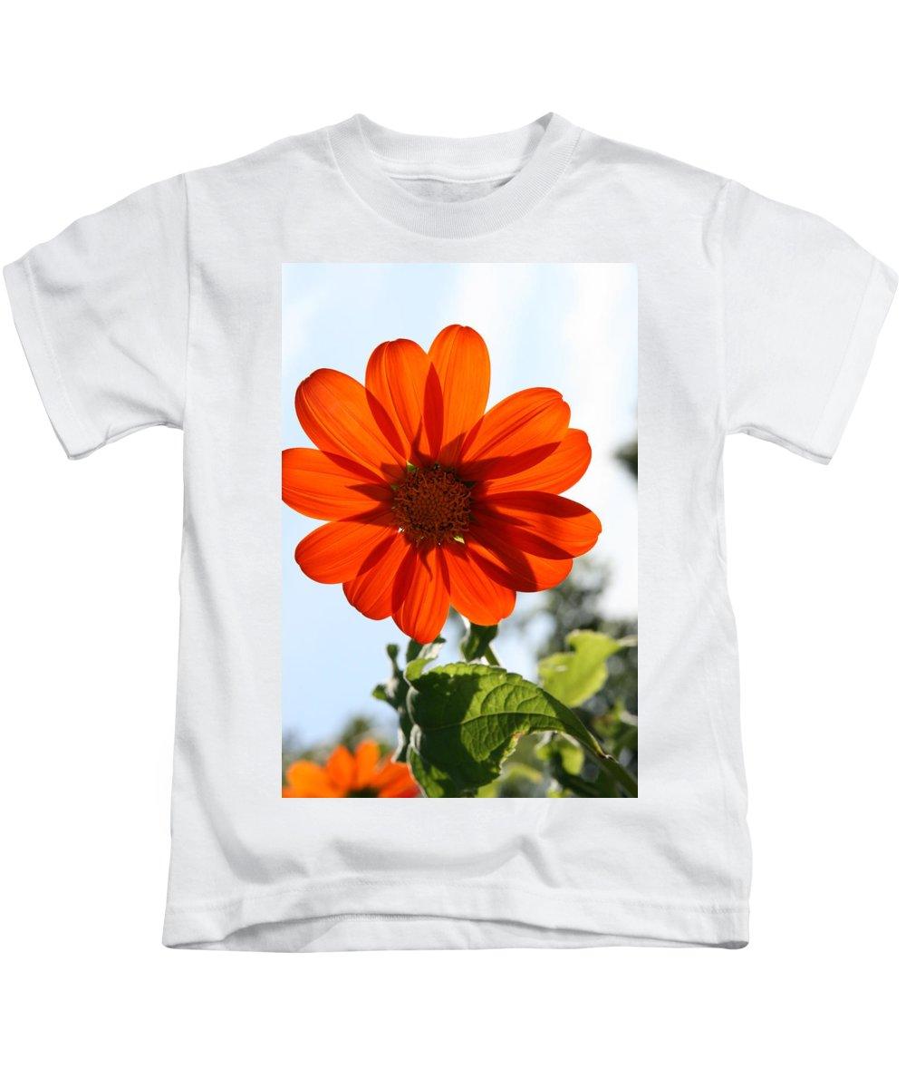 Natures Silhouette Kids T-Shirt featuring the photograph Floral Silhouette by Neal Eslinger