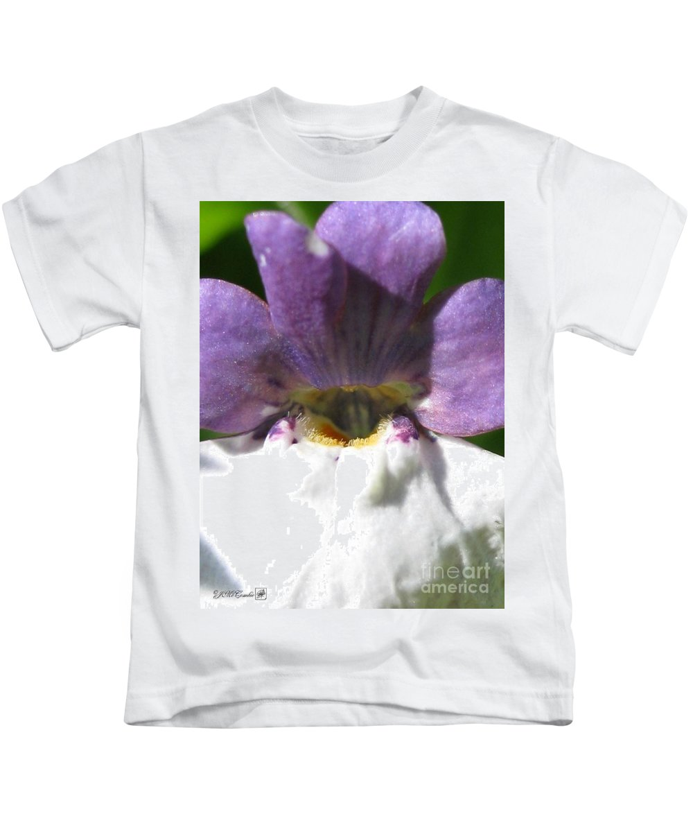 Nemesia Kids T-Shirt featuring the photograph Nemesia From The Tapestry Mix by J McCombie