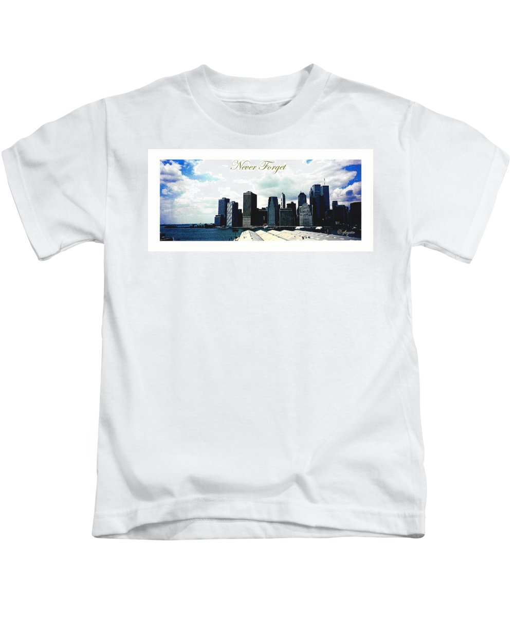 New York City Kids T-Shirt featuring the photograph Never Forget by C F Legette
