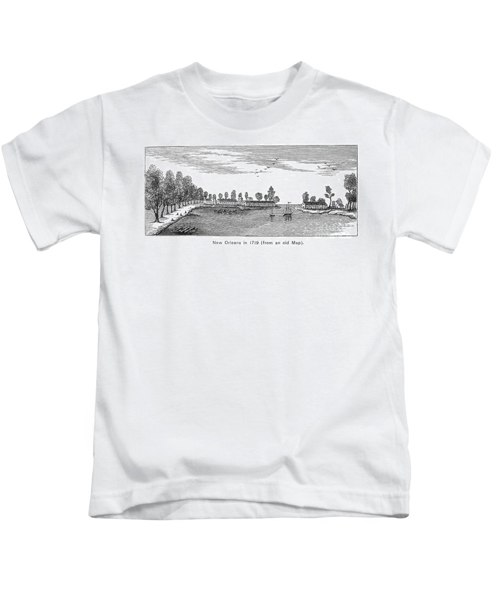 1719 Kids T-Shirt featuring the photograph New Orleans, 1719 by Granger