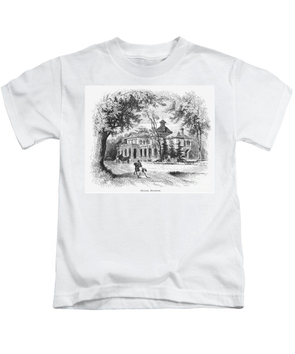 1876 Kids T-Shirt featuring the photograph New York State: House by Granger