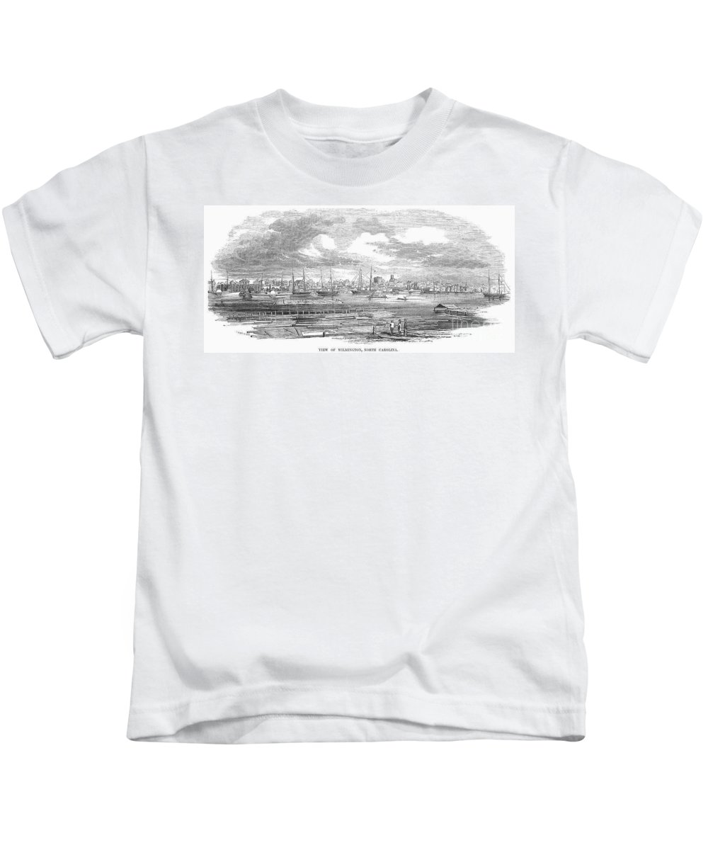 1853 Kids T-Shirt featuring the photograph North Carolina: Wilmington by Granger