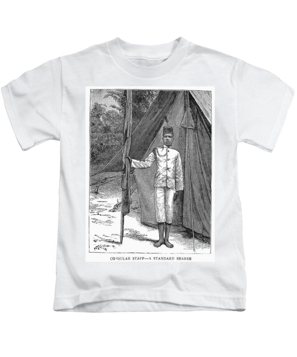1889 Kids T-Shirt featuring the photograph Nyasaland: Consular Staff by Granger
