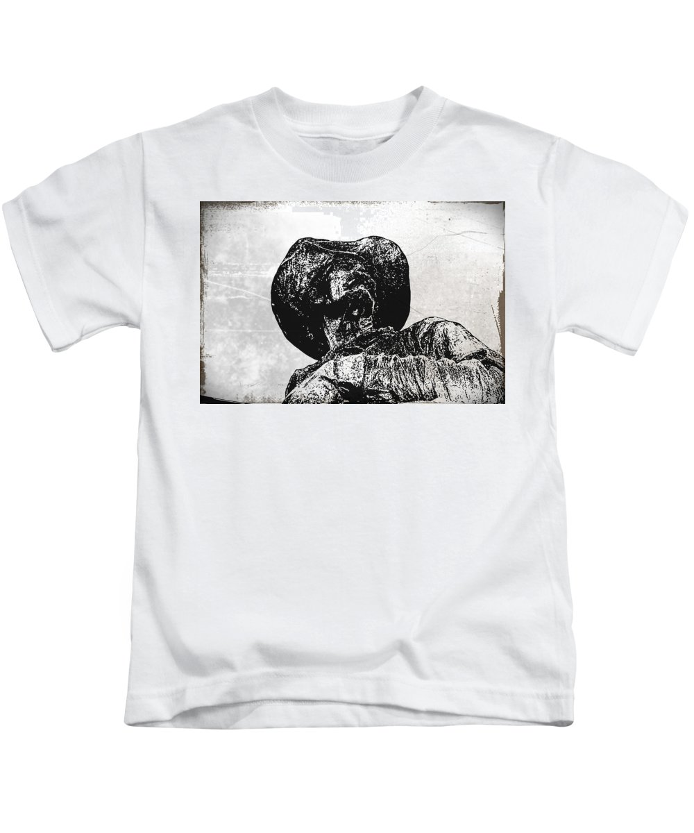Cowboy Kids T-Shirt featuring the photograph Old Cowboy by Bill Cannon