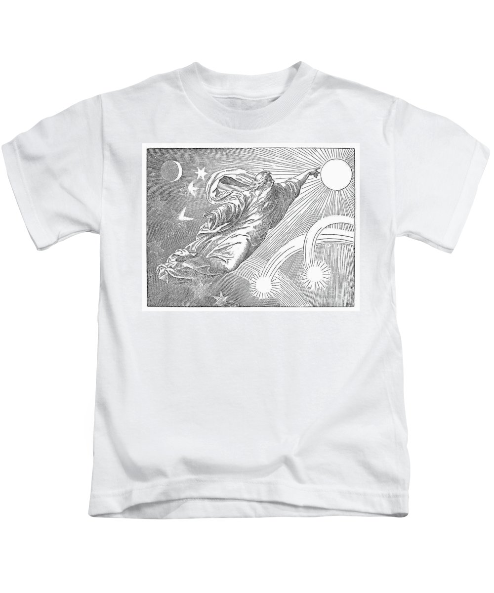19th Century Kids T-Shirt featuring the photograph Old Testament: God by Granger