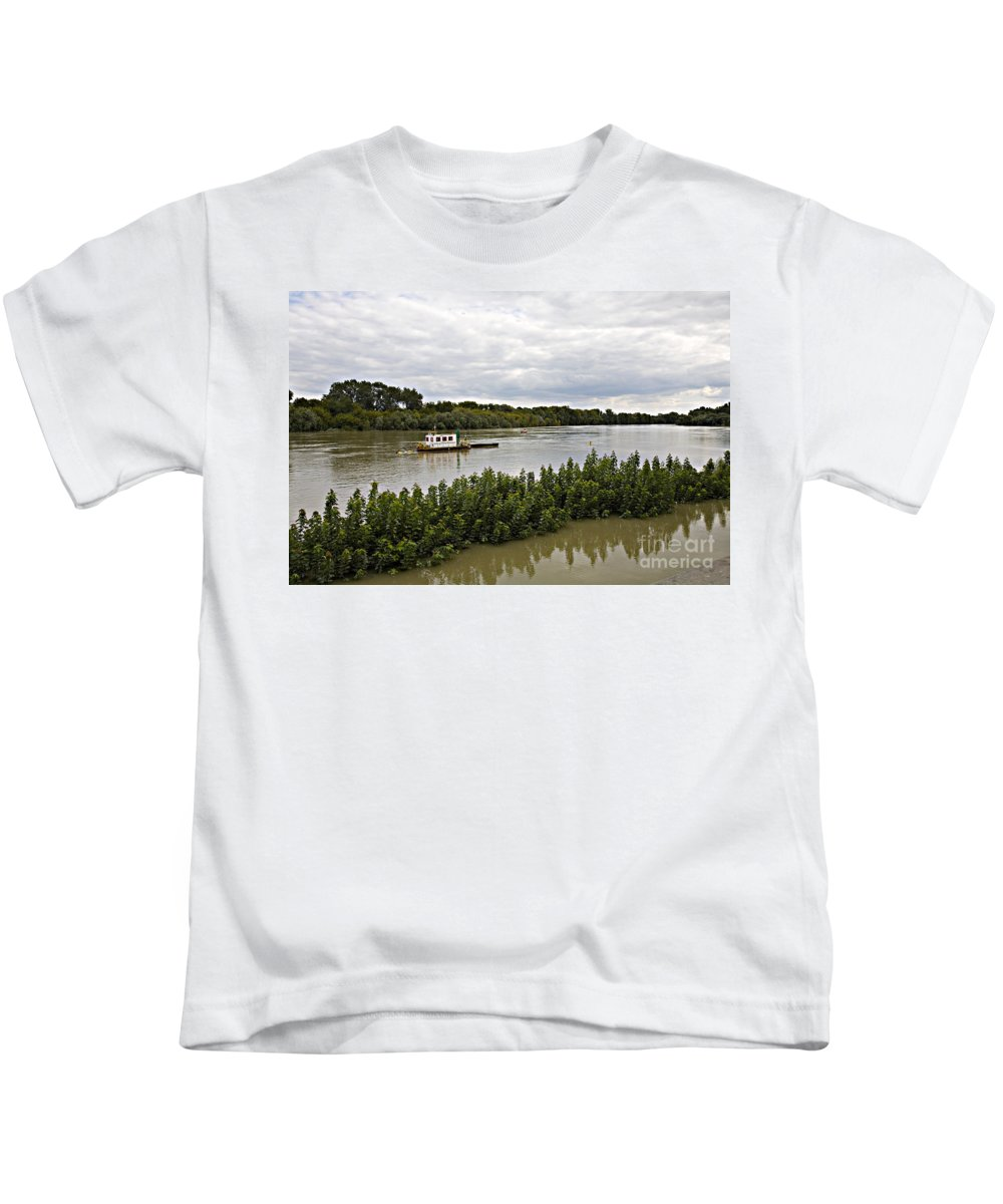 Danube Kids T-Shirt featuring the photograph On The Danube by Madeline Ellis