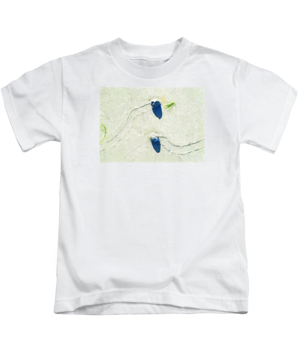Low Tide Kids T-Shirt featuring the photograph One Day Our Paths Will Cross by Steve Taylor