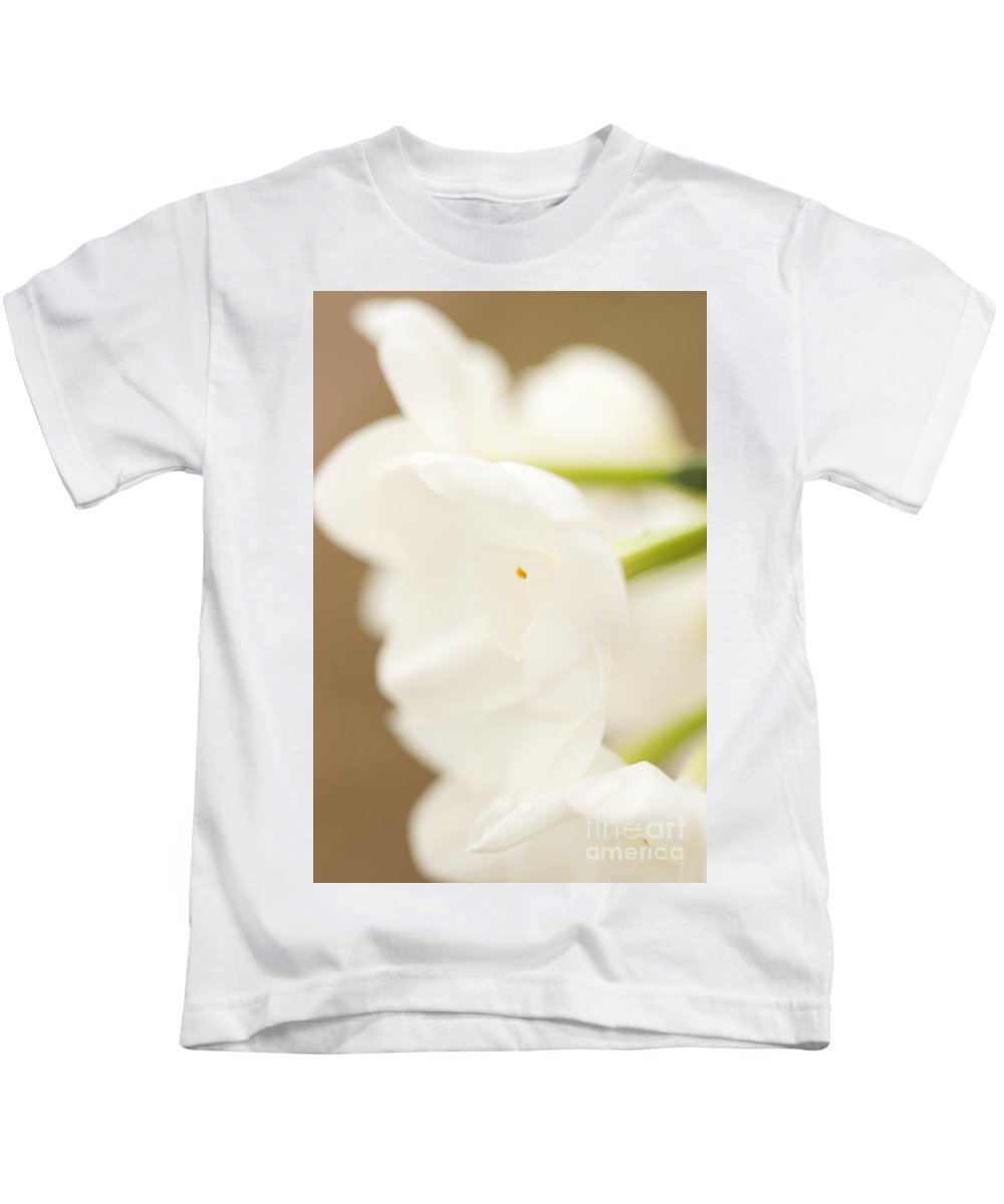 Narcissus Papyraceus Kids T-Shirt featuring the photograph Paperwhites One by Brooke Roby