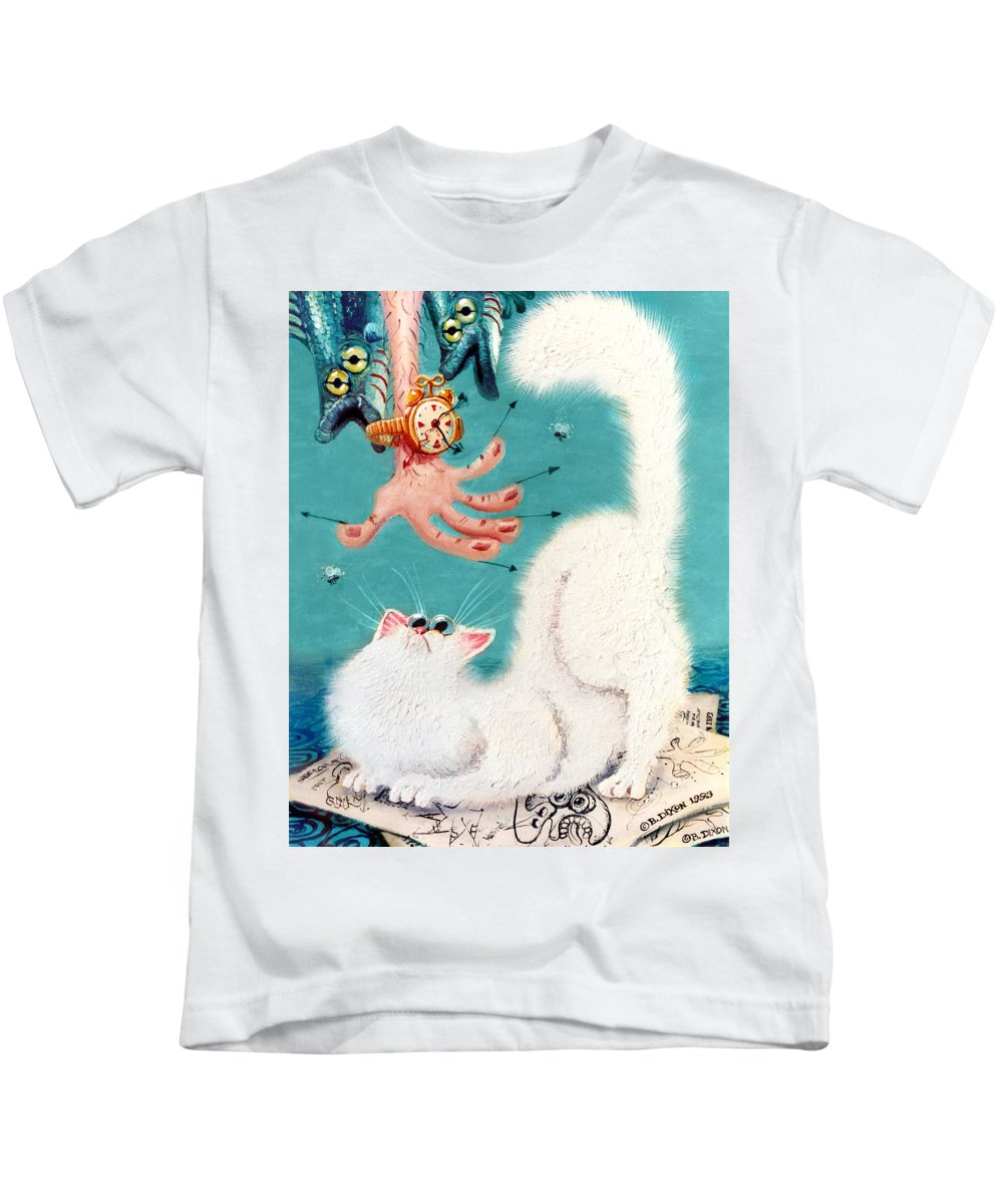Cat Kids T-Shirt featuring the painting Pat That Cat by Baron Dixon