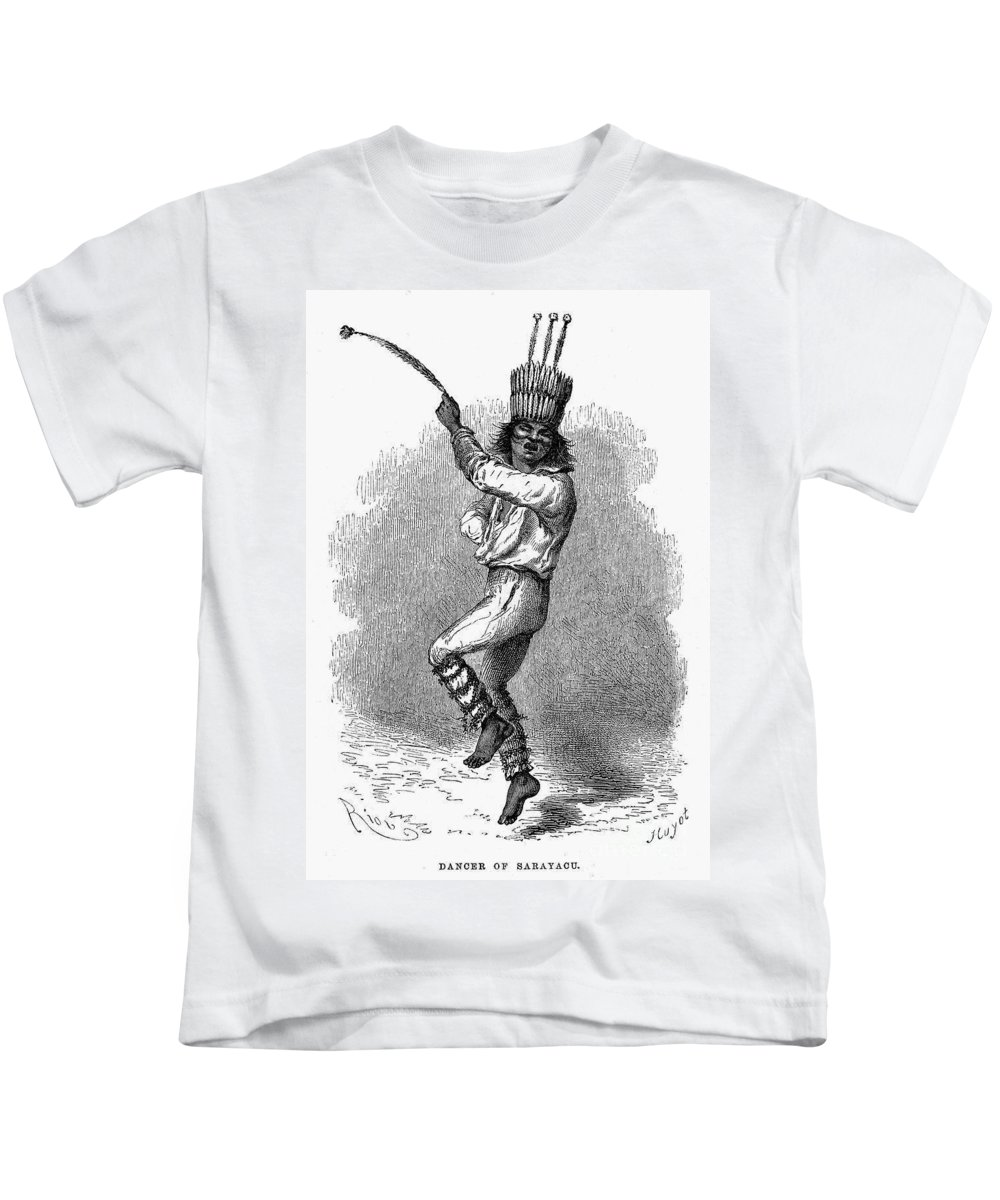 19th Century Kids T-Shirt featuring the photograph Peru: Native Indian Dancer by Granger