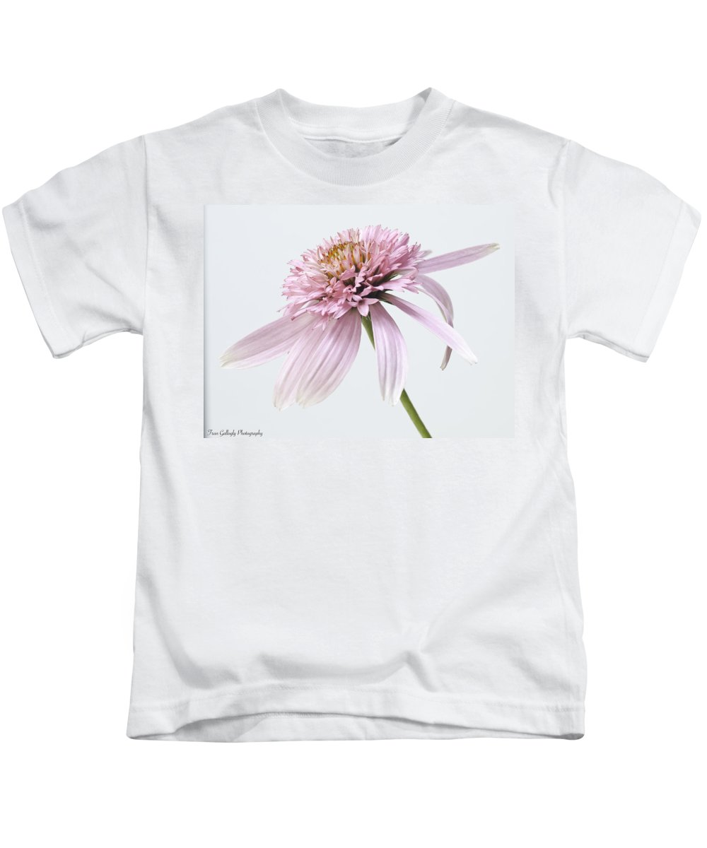 Flower Kids T-Shirt featuring the photograph Pink Cone Flower by Fran Gallogly