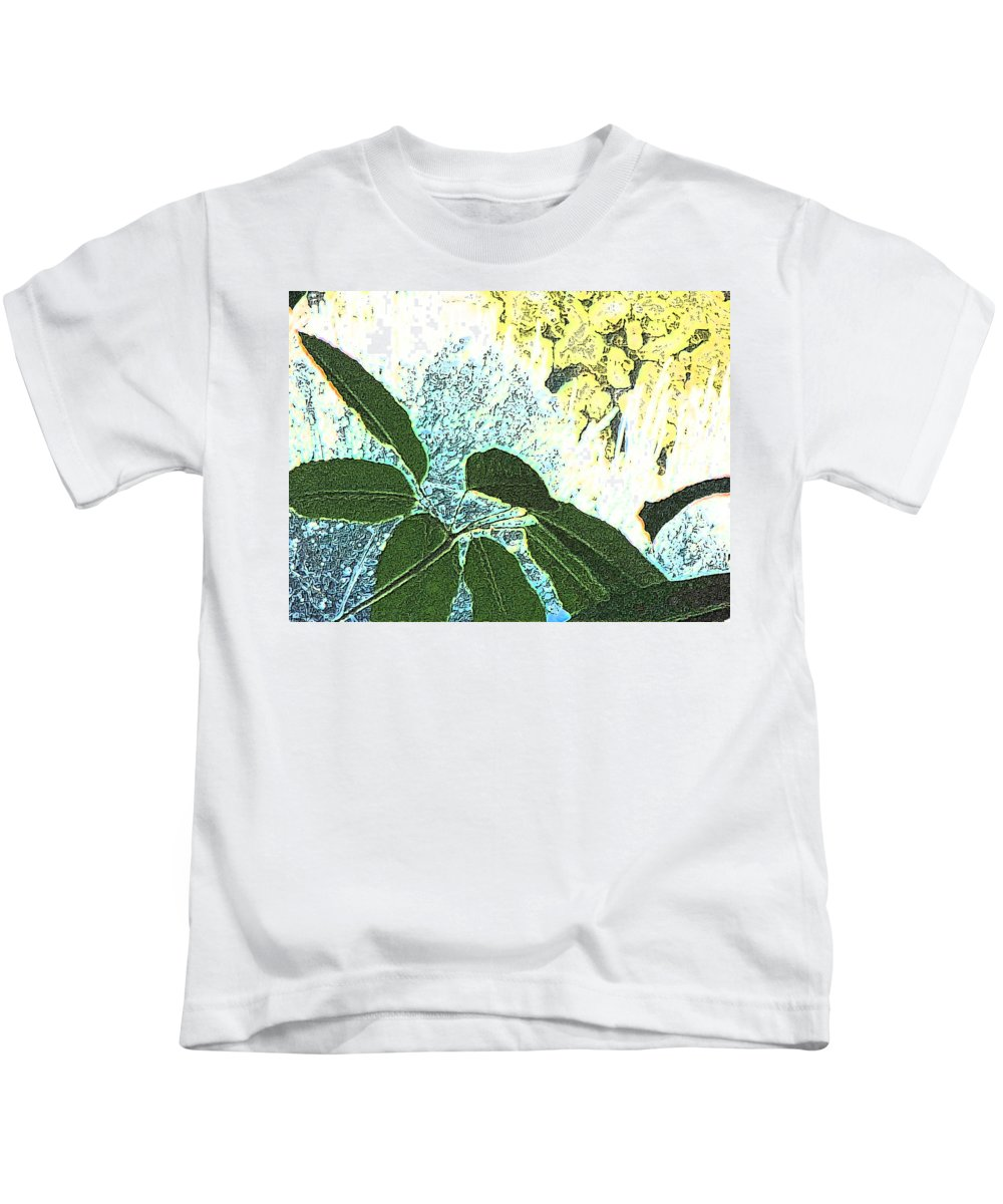 Abstract Kids T-Shirt featuring the photograph Plant Life Inside-outside by Lenore Senior