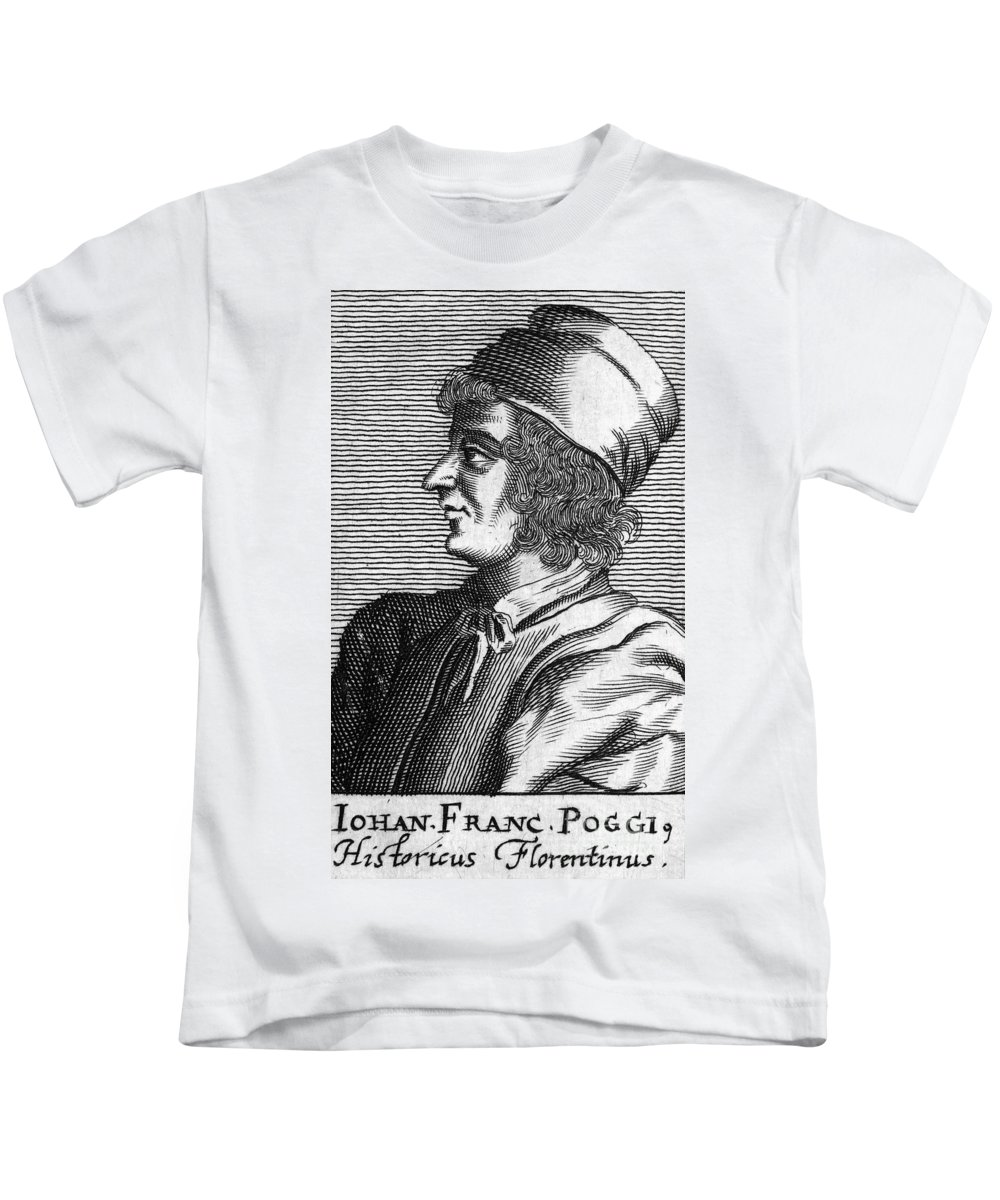 15th Century Kids T-Shirt featuring the photograph Poggio Bracciolini by Granger
