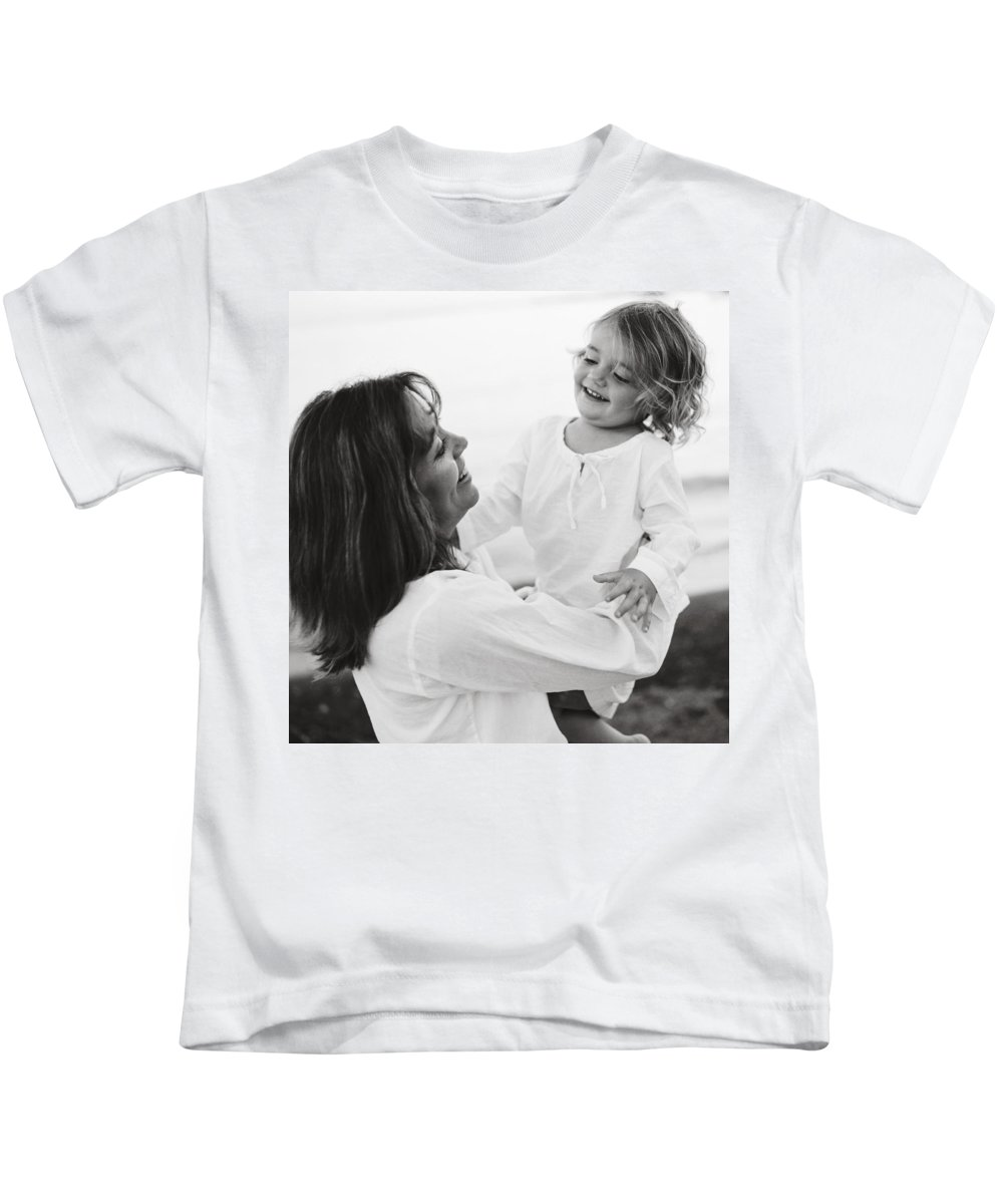 3-5 Years Kids T-Shirt featuring the photograph Portrait Of Mother And Daughter by Michelle Quance