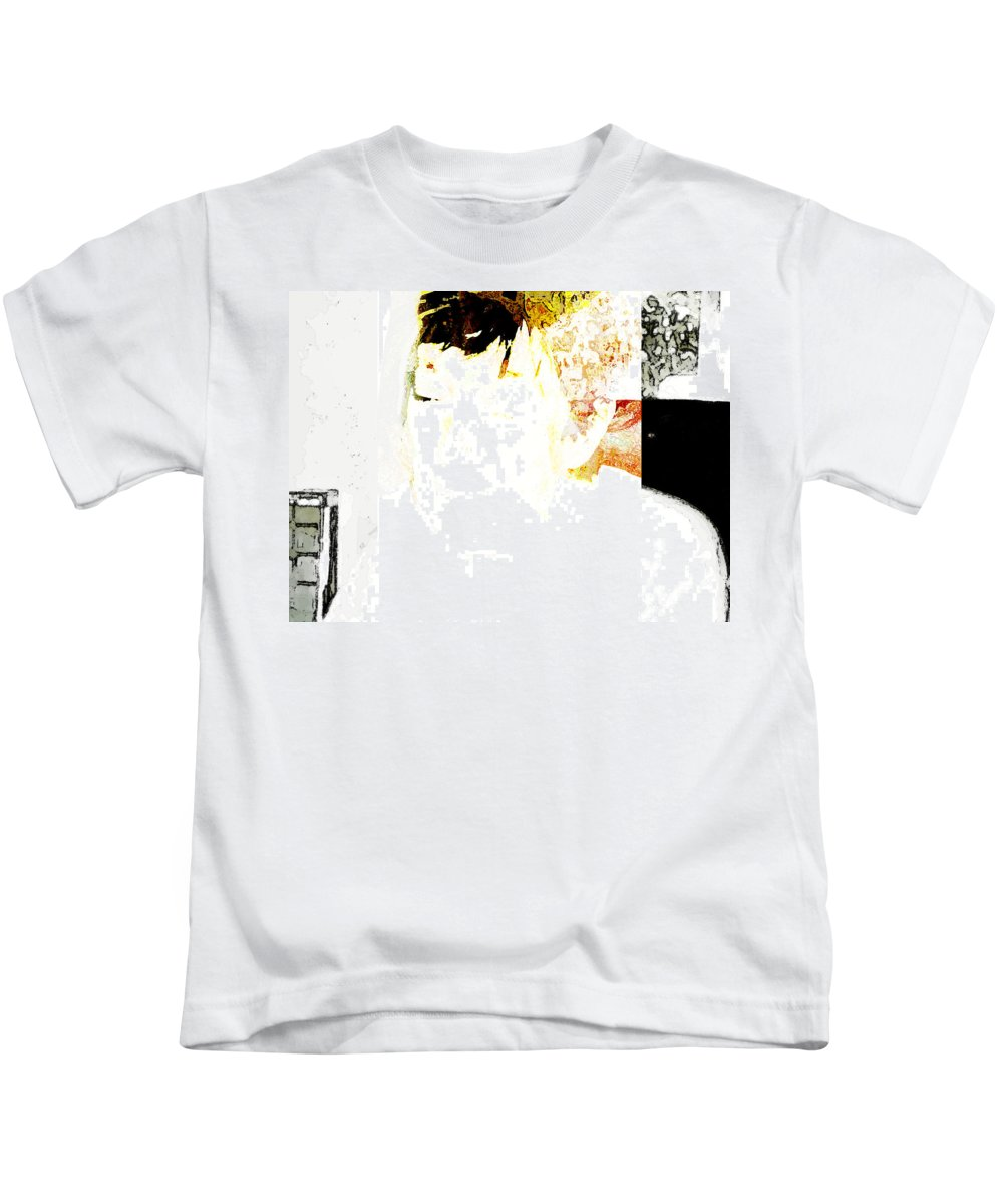 Abstract Kids T-Shirt featuring the photograph Portrait Of Tears 4 by Lenore Senior