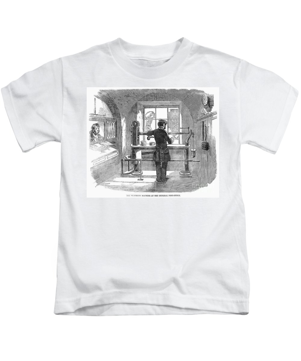 1856 Kids T-Shirt featuring the photograph Post Office, 1856 by Granger