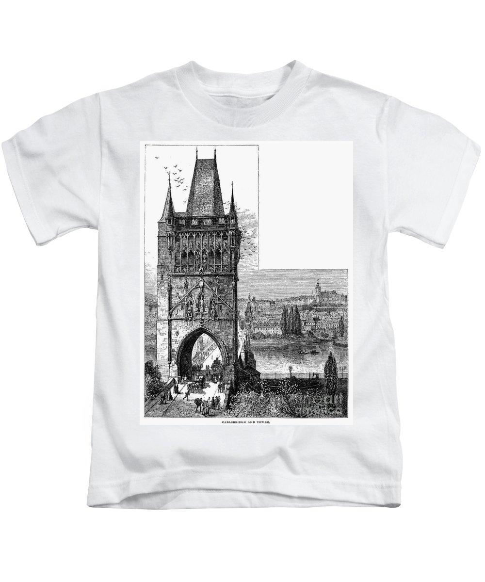 19th Century Kids T-Shirt featuring the photograph Prague: Carlsbridge by Granger