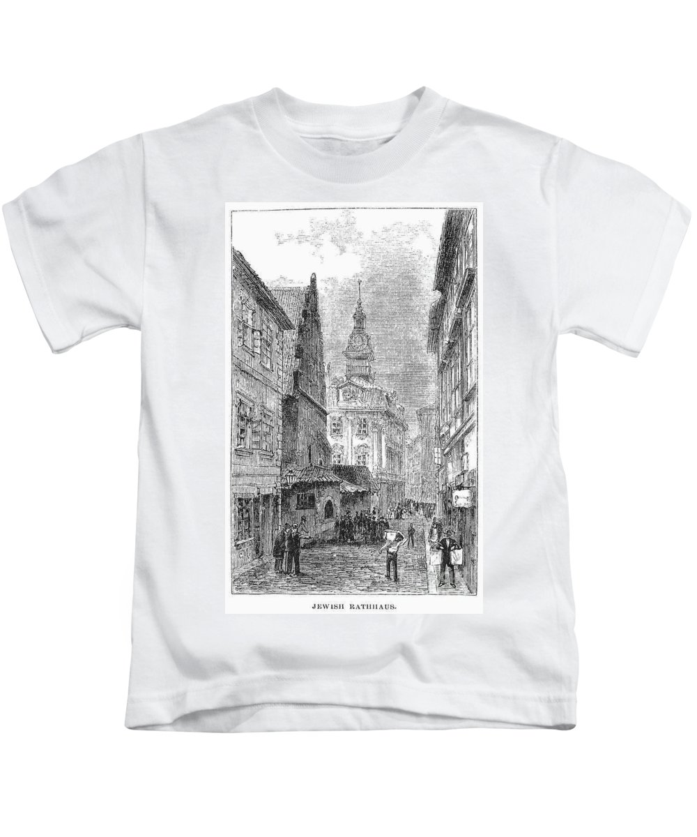 19th Century Kids T-Shirt featuring the photograph Prague: Jewish City Hall by Granger
