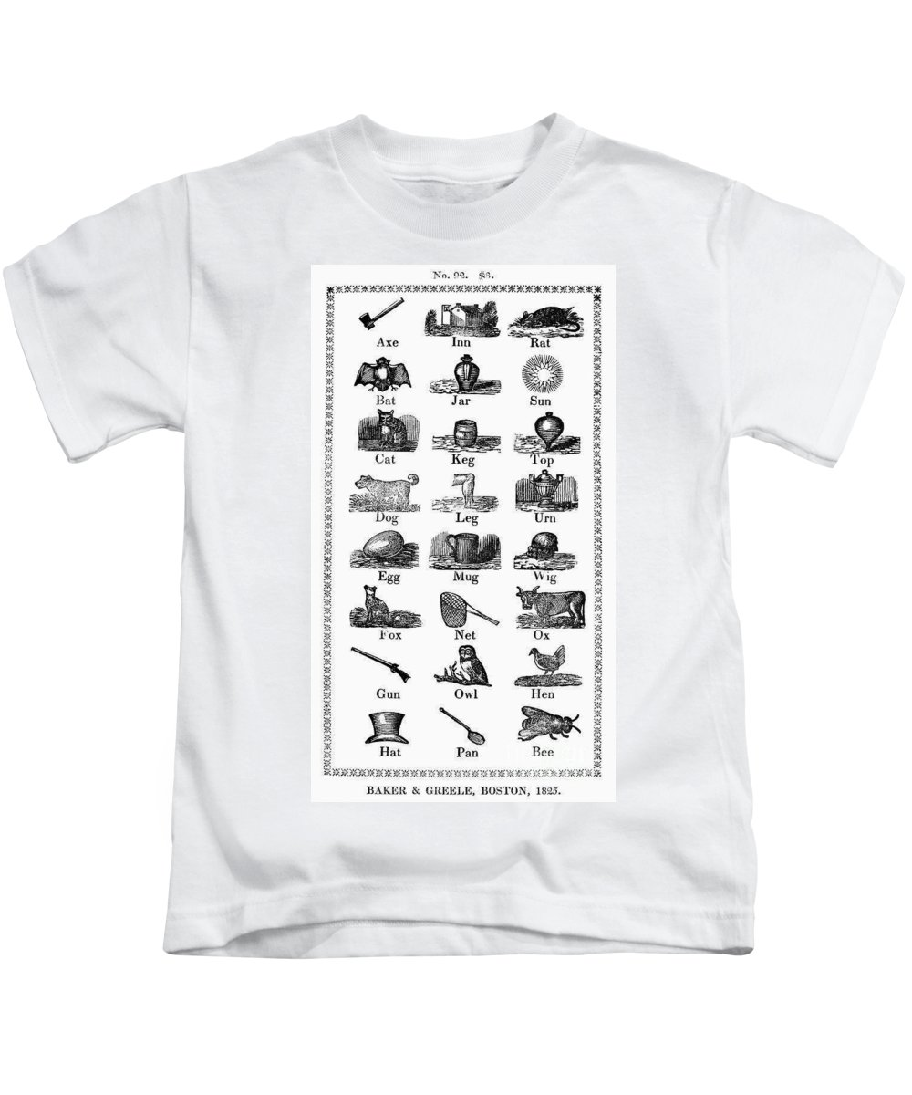 1825 Kids T-Shirt featuring the photograph Printers Cuts, 1825 by Granger