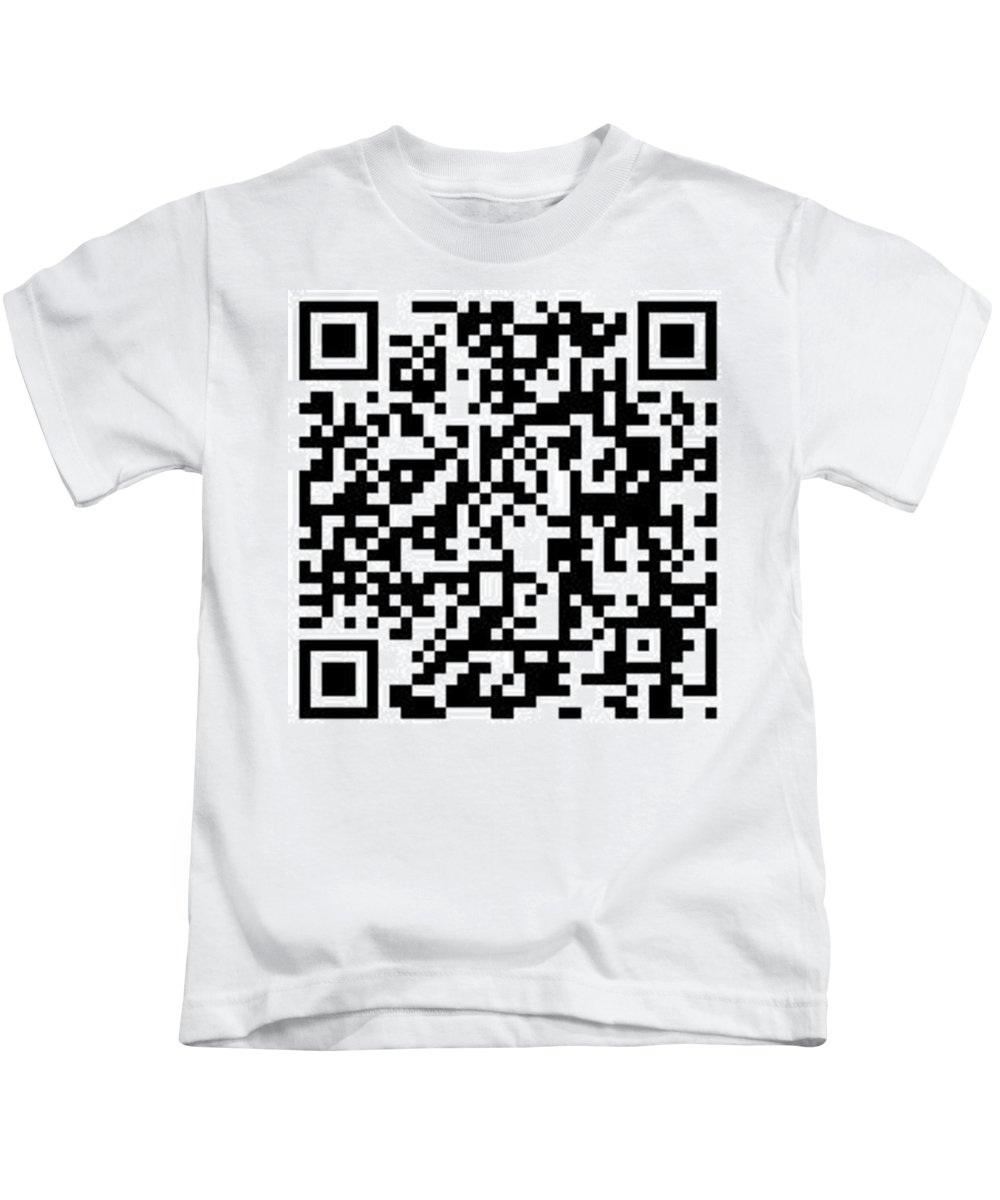 Artistswebsite Kids T-Shirt featuring the digital art Qr Code Artists Website by Kip DeVore