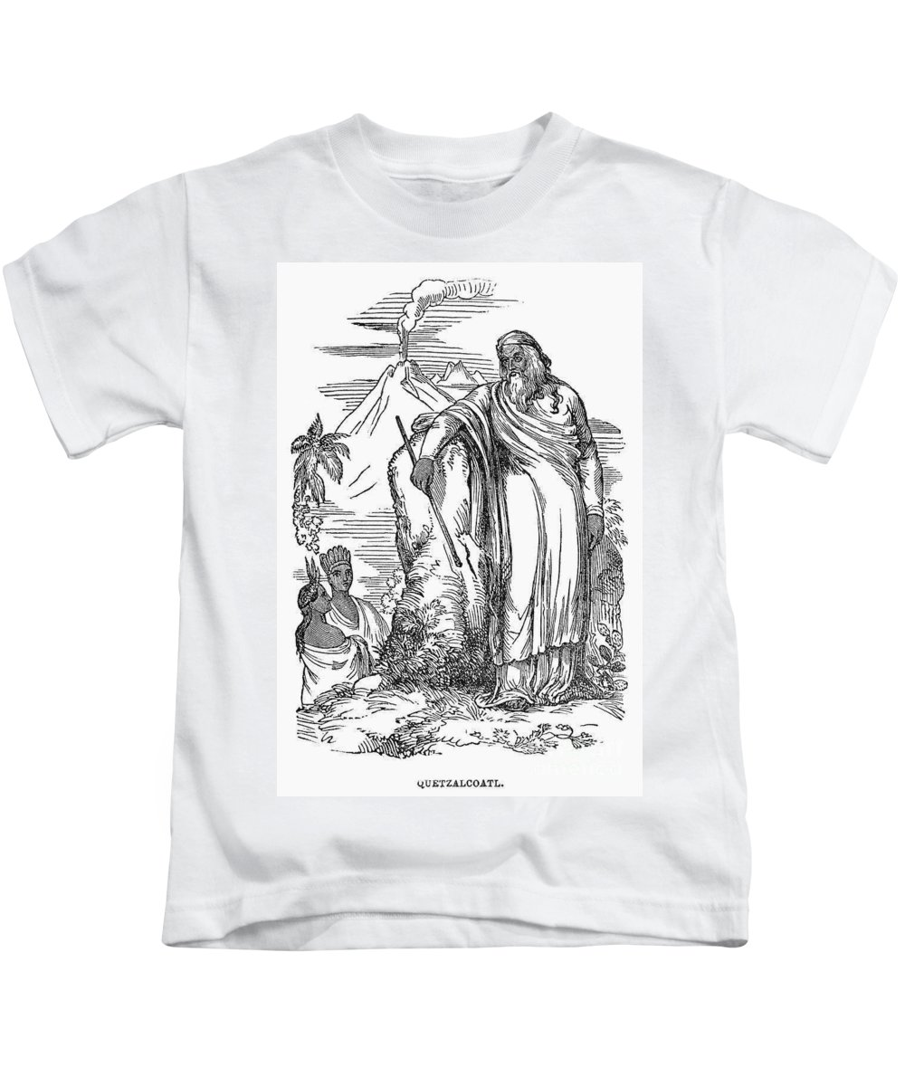19th Century Kids T-Shirt featuring the photograph Quetzalcoatl by Granger
