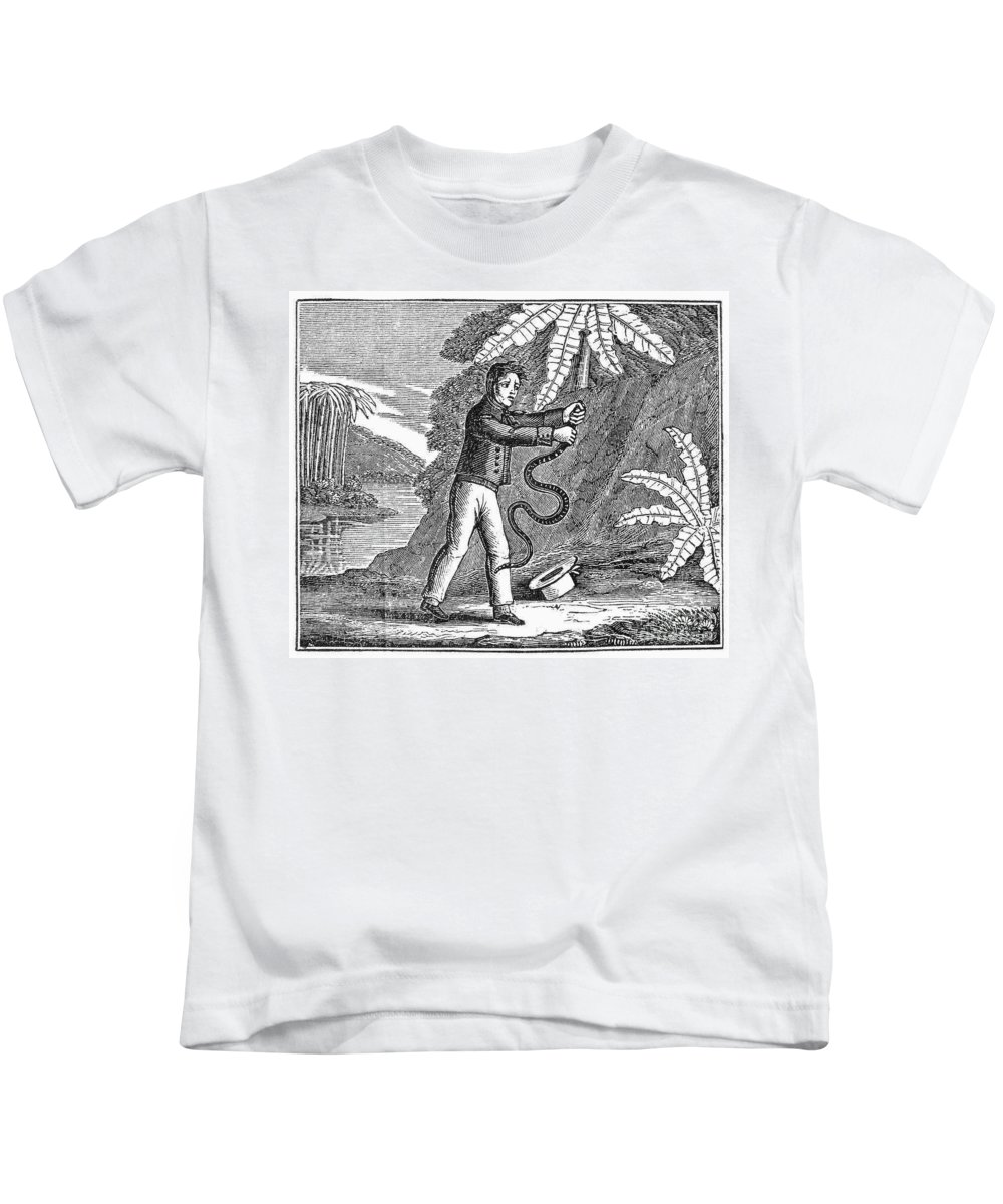 19th Century Kids T-Shirt featuring the photograph Rattlesnake by Granger