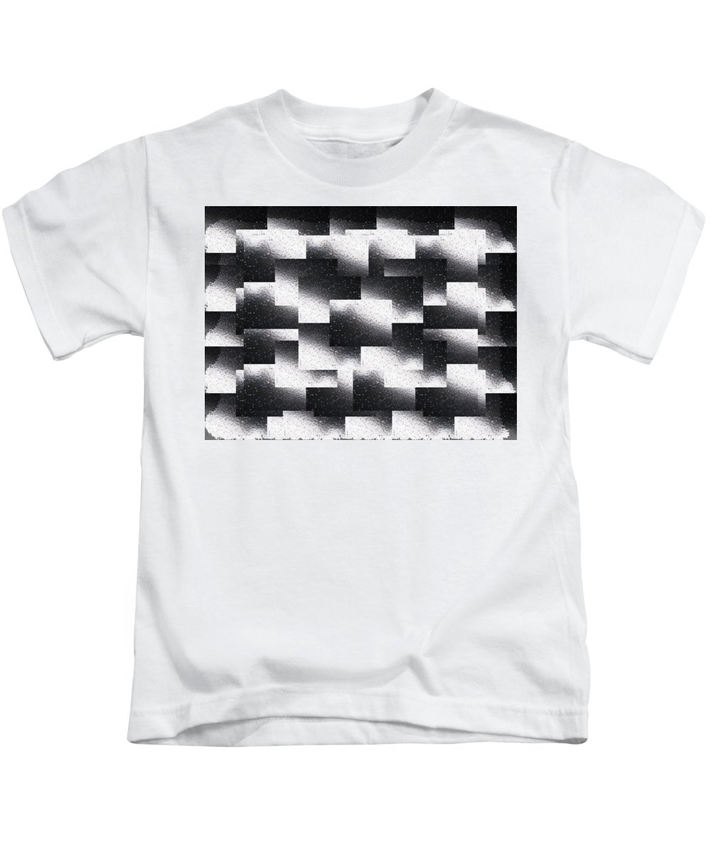 Abstract Kids T-Shirt featuring the digital art Reflections Of A Rain Shower by Tim Allen