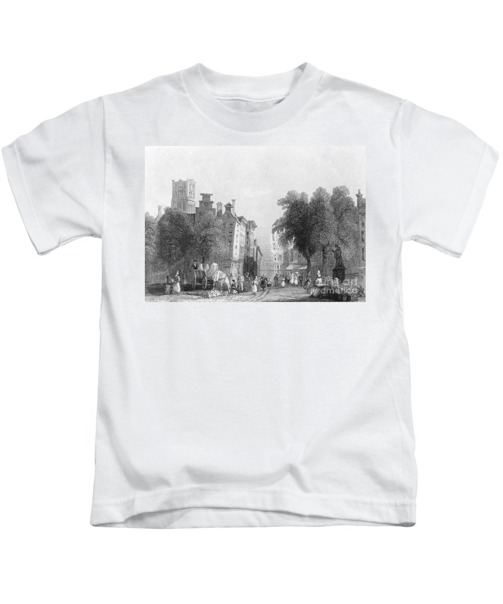 1830s Kids T-Shirt featuring the photograph Rotterdam, C1830s by Granger