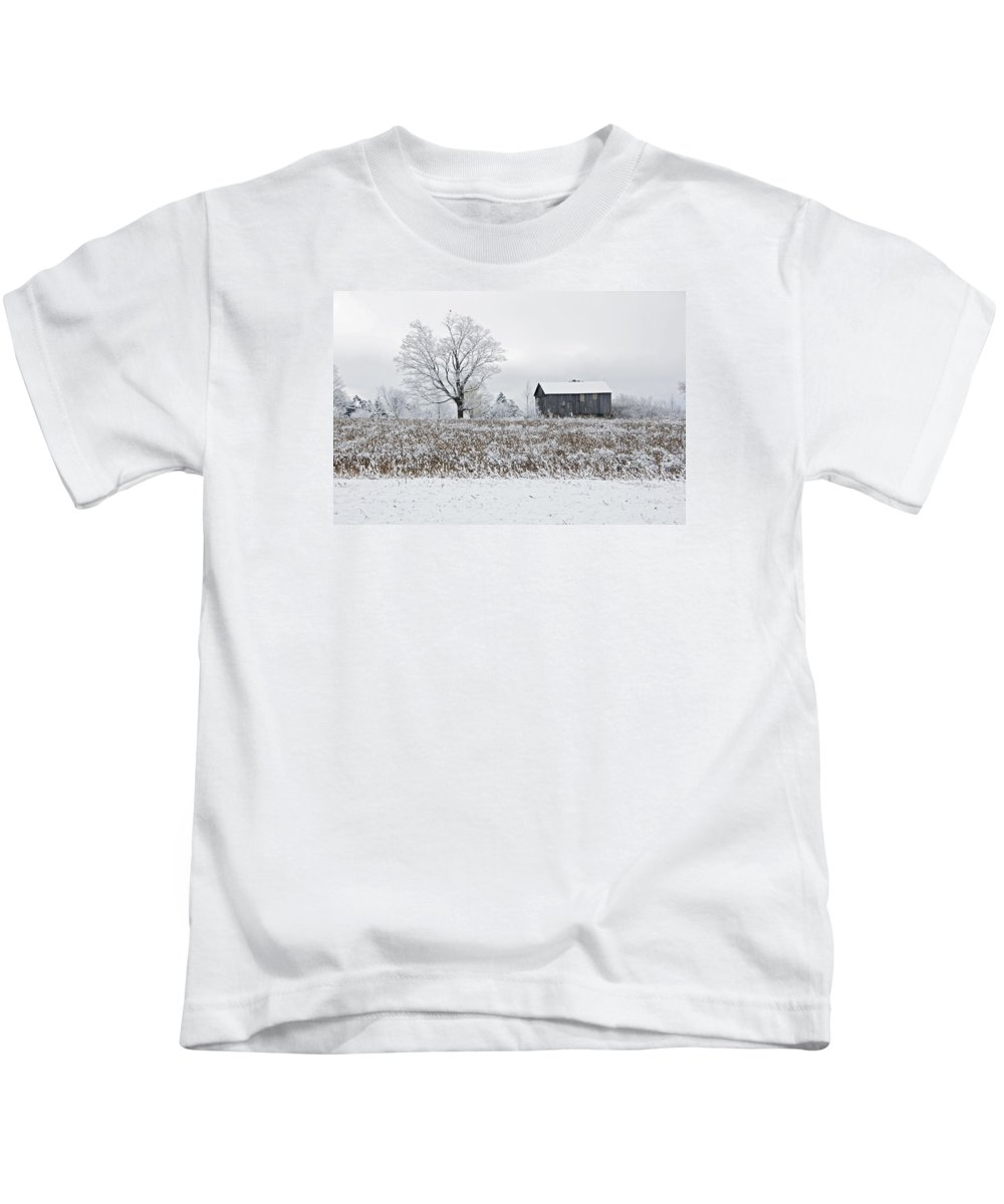 Rural Kids T-Shirt featuring the photograph Rural Winter by Elaine Mikkelstrup