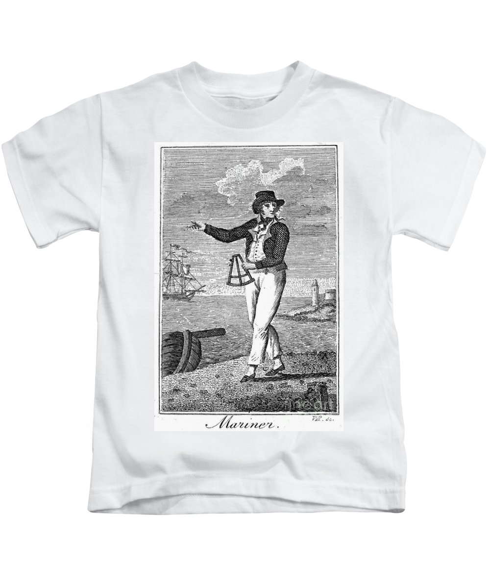 18th Century Kids T-Shirt featuring the photograph Sailor, 18th Century by Granger