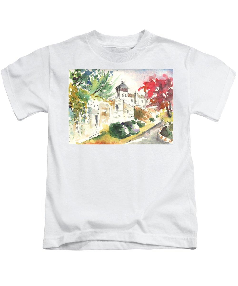 Travel Kids T-Shirt featuring the painting Saint Bertrand de Comminges 04 by Miki De Goodaboom