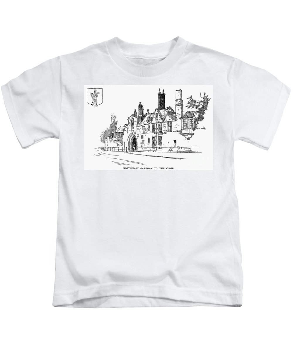 19th Century Kids T-Shirt featuring the photograph Salisbury Cathedral: Close by Granger