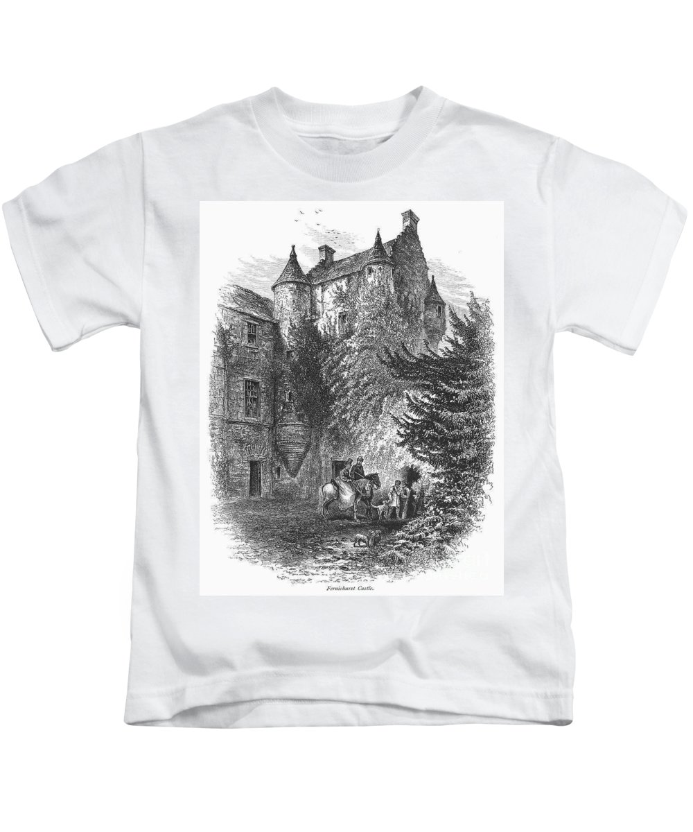 1875 Kids T-Shirt featuring the photograph Scotland: Castle by Granger