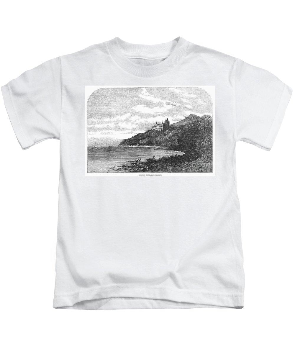 1855 Kids T-Shirt featuring the photograph Scotland: Dunrobin Castle by Granger