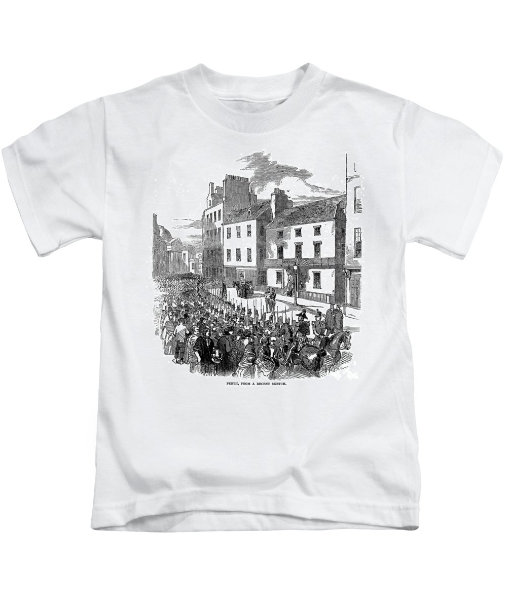 1848 Kids T-Shirt featuring the photograph Scotland: Perth, 1848 by Granger