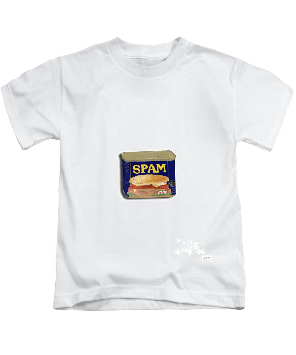 Spam Kids T-Shirt featuring the digital art Spam In A Can by George Pedro