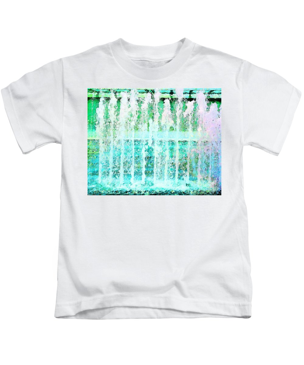 Fountain Kids T-Shirt featuring the photograph Splash by Lizi Beard-Ward
