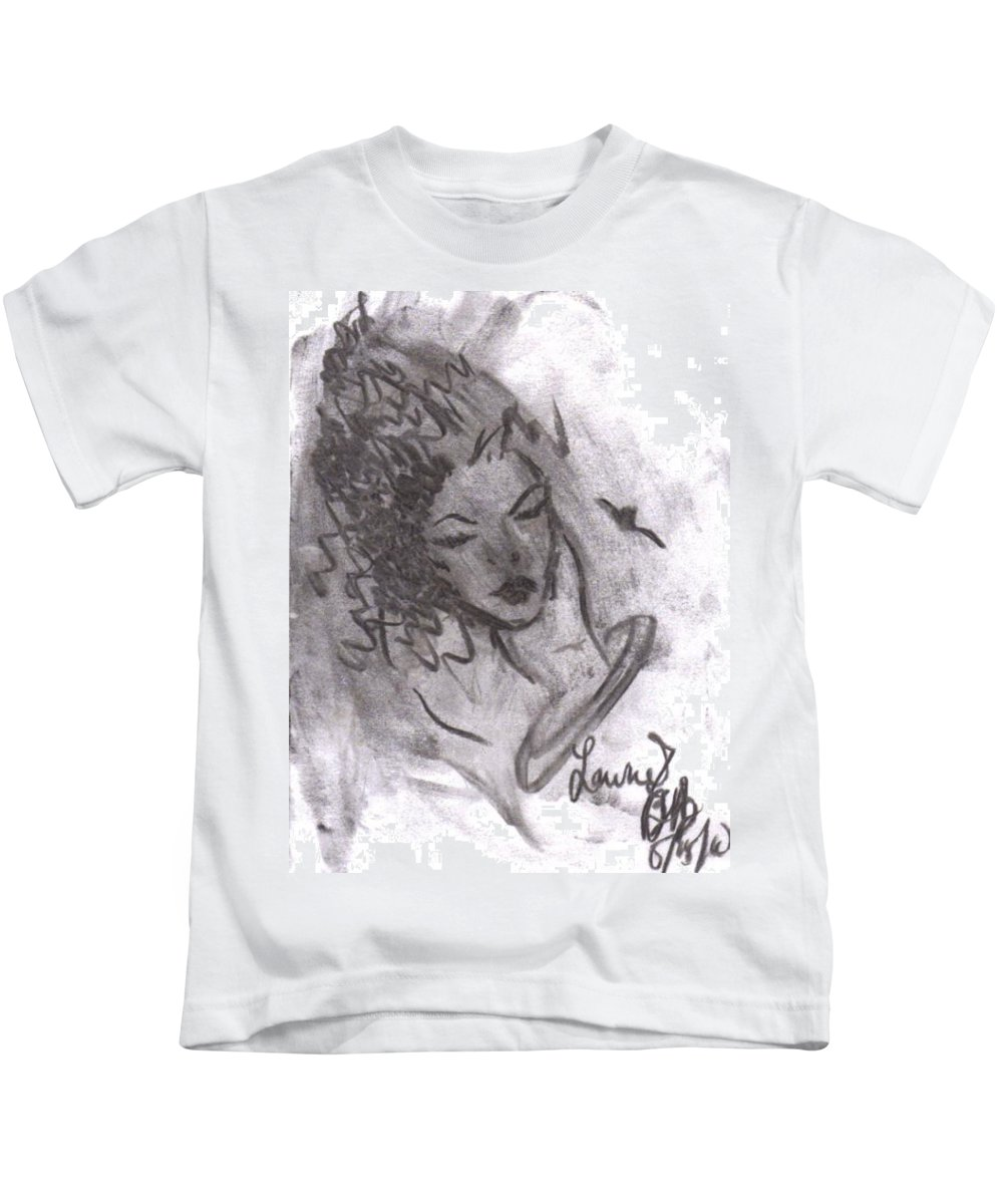 Love Kids T-Shirt featuring the drawing Story Of My Heart by Laurie Lundquist