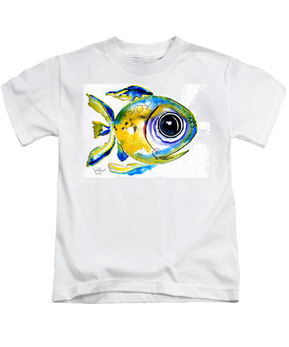 Fish Kids T-Shirt featuring the painting Stout Lookout Fish by J Vincent Scarpace