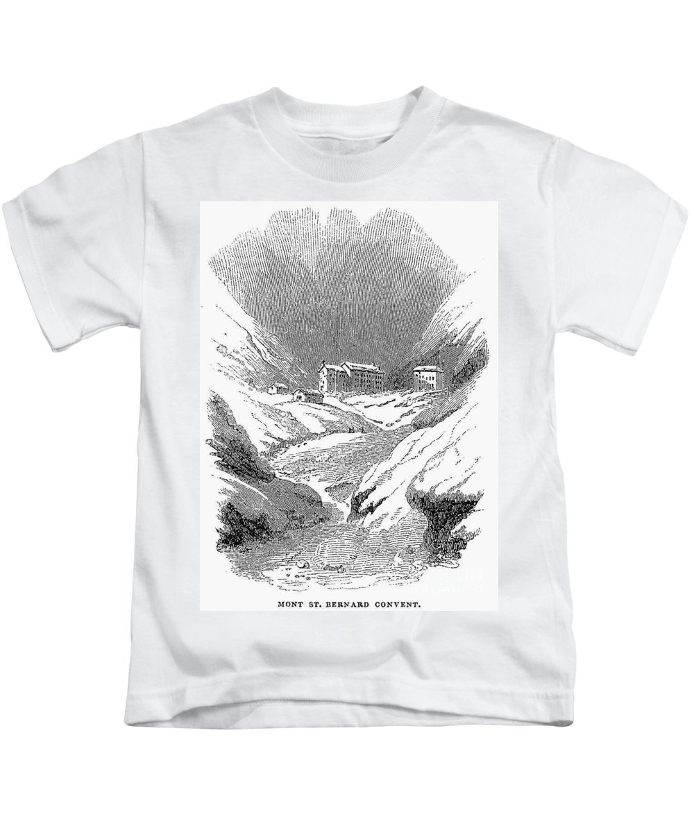 1843 Kids T-Shirt featuring the photograph Switzerland: Convent, 1843 by Granger